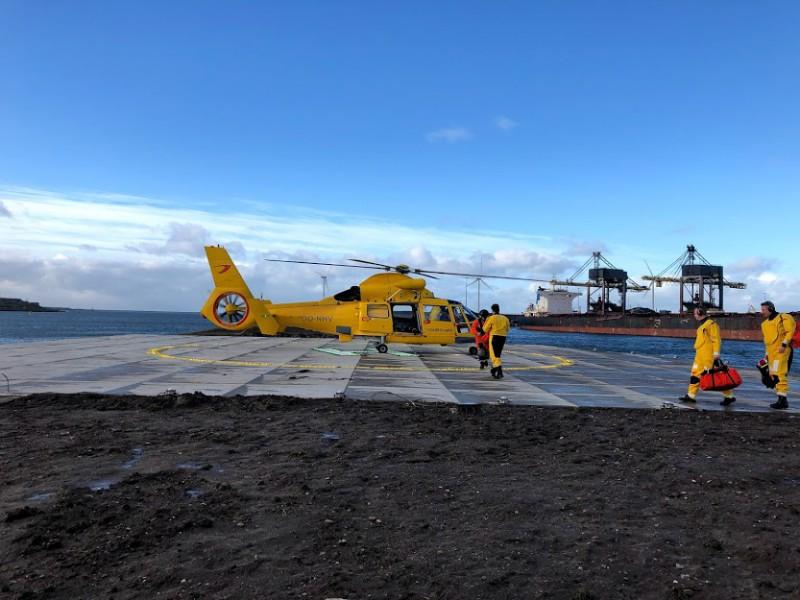 Loodswezen Helikopter platform IJmuiden